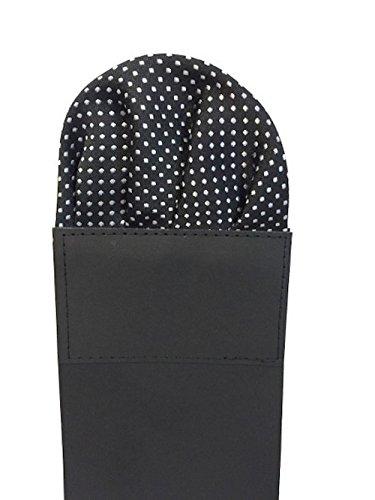 Label-Cravate Pochette costume pliée noire à motifs