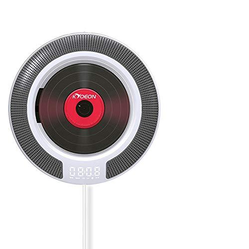 CD-speler voor wandspeler, CD-speler, persoonlijke CD-speler met Bluetooth - FM-radio Anti-Salt/Home Audio Radio/Jack voor koptelefoon (3,5 mm)