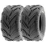 SunF 18x9.5-8 18x9.5x8 ATV UTV Tires 6 PR Tubeless A004 [Set of 2]