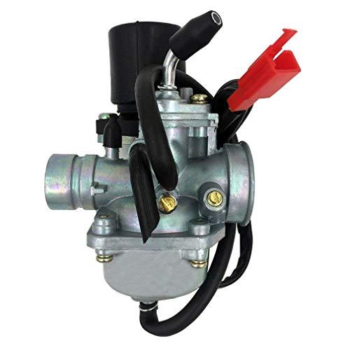 GOOFIT Carburador 19 Minimoto Válvula Electrica Mini Quad para 2 Tiempos 49cc...