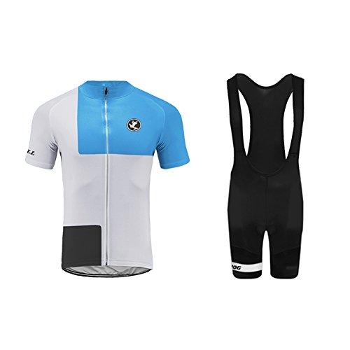 Uglyfrog Designs MTB Herren Kurzarm Radtrikot Set Trikot Herren 2018-2019 Rennrad +Bib Kurzanzug Quick Dry Biking Kleidung Set für Outdoor Sports