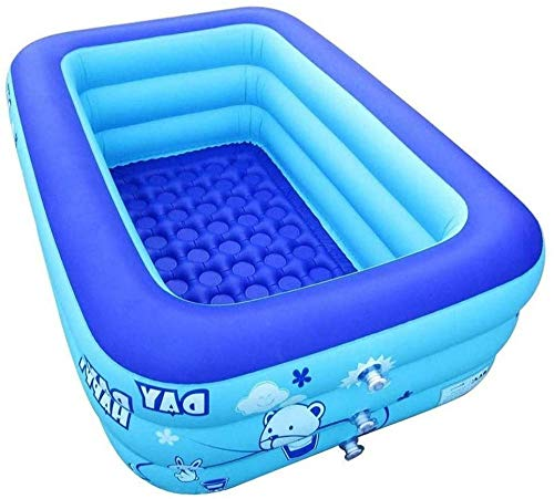 Piscinas inflables Bañera de hidromasaje Inflable con Bomba de Aire eléctrica Plegable Durable Adulto Bebé Bañera de hidromasaje Niños Niños Bañera de Juguete Piscina Azul Uptodate