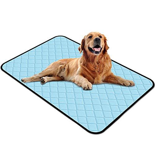 Yuede Kühlmatte für Hunde, Selbstkühlende Haustier Matten, Trainingsunterlagen Wickelunterlage für Hunde Katzen Kühlkissen Kühl Hundedecke ( 90X55cm )