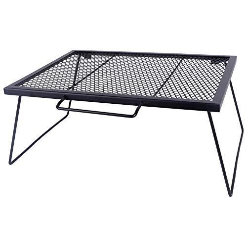 ヨーラー(YOLER) メッシュテーブル 大型焚き火テーブル 折りたたみ式 専用収納ケース付き 60×43×26cm YR-MT007