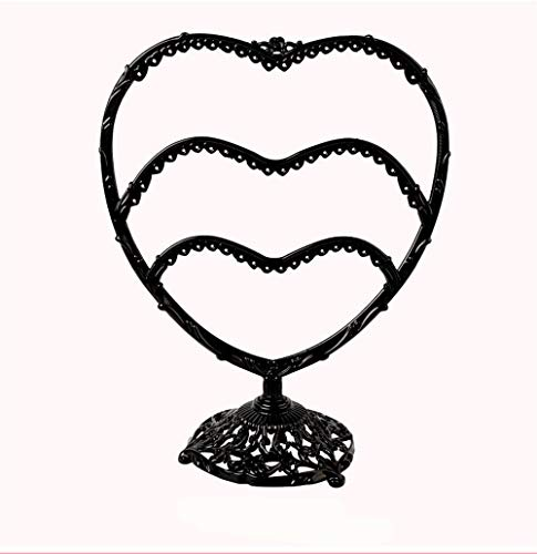 Preisvergleich Produktbild SunAll Ohrring für Frauen Ohrringe Lagerung Ohrring Halter Eisen Schmuck Schmuck Display-Ständer Ohrringe Ohrringe Lagerung Haushalt Display Requisiten Metall Kupfer (Color : Black)