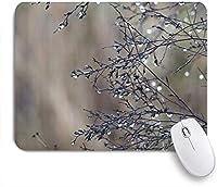 VAMIX マウスパッド 個性的 おしゃれ 柔軟 かわいい ゴム製裏面 ゲーミングマウスパッド PC ノートパソコン オフィス用 デスクマット 滑り止め 耐久性が良い おもしろいパターン (ボタニカルクリエイティブデュードロッププラントネイチャー)