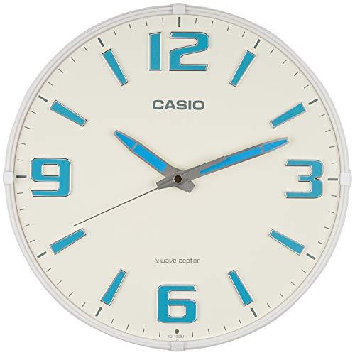 CASIO(カシオ) 掛け時計 電波 ホワイト 直径30.8cm アナログ 蓄光 夜間秒針停止 IQ-1009J-7JF