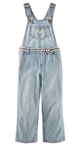 OshKosh B'Gosh Latzhose gestreift Jeans Mädchen Girl Pant Jeanshose Baby (56/62)