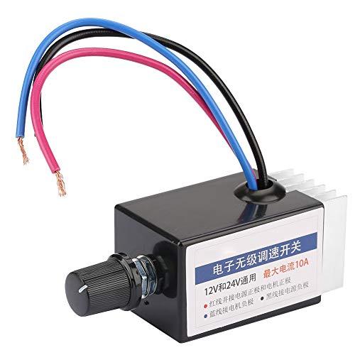 Interruptor de controlador de velocidad de motor CC continuo de 12 v 24 v regulador de motor CC para ventilador de calefacción de camión o coche
