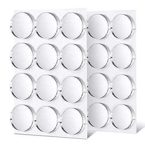 Yosemy 24PCS Topes para Puerta, Autoadhesivos Topes Elásticos Transparentes - Amortiguadores Adhesivos para Pared Armario Ø 22 MM