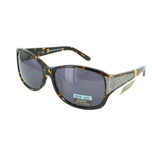 Fossil Brille – PS7174228 – Camarillo – Brille für Damen – Graues Glas – Gestell aus Acetat mit Schildkröte