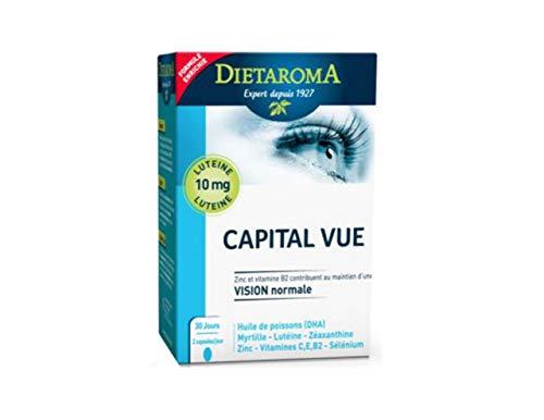 Dietaroma - Complexe capital vue cure 1 mois - 60 capsules molles - Une aide précieuse pour vos yeux