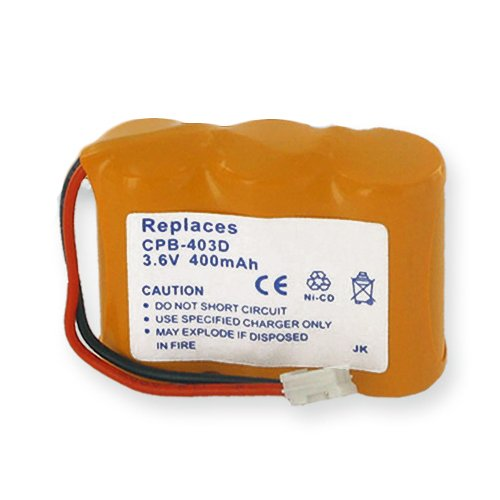 RCA 29735 Cordless Phone Battery Ni-CD, 3.6 Volt, 400 mAh - Ultra Hi-Capacity - Replacement for Rechargeable Battery