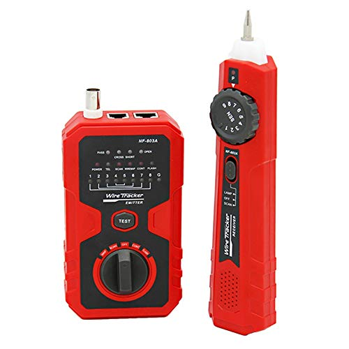 Perseguidor del alambre de red Cable Tester Detector de Circuito herramienta de prueba de LAN Ethernet NF-803A Circuito Detector de red Cable Tester Por Cable Teléfono con cable de alambre