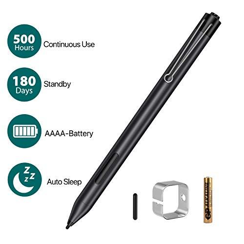 AT-Mizhi Microsoft Surface Pen mit Palm Rejection - Surface Stift mit 4096 Druckempfindlichkeit& Flüssiges Schreiben, Kompatibilität mit Surface 4/Pro 4/Pro 5/Pro 6/Go/Go2/Book/Laptop/Studio und mehr