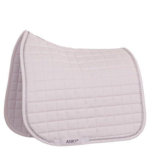 Anky Tapis de selle de dressage tressé (pur-sang, blanc/blanc)