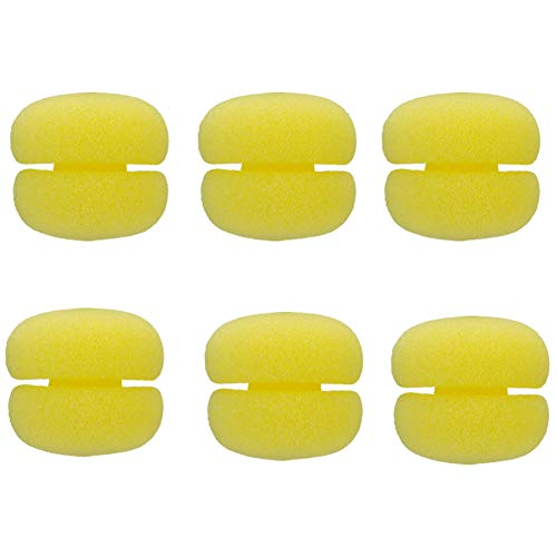 12 Pcs Soft Sponge Hair Curlers Round Foam Hair Curlers Balls Not Hurt Hair Styling Curlers Tools for Girls, Women, Ladies (Yellow)