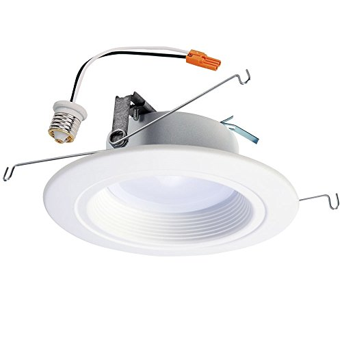"""HALO RL56069BLE40AWH Home RL56 Bluetooth Smart Integrated LED Recessed Ceiling Light, Tunable CCT (2700K-5000K), 5"""" and 6"""", White"""