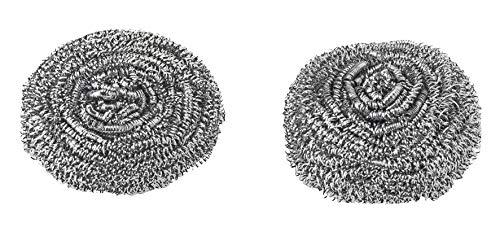 VIGAR - Confezione da 2 ricariche per Spazzola lavappiatti di Testa con Spugna in Metallo, Grigio, Medio