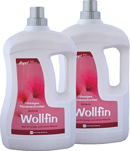 Hepp GmbH & Co KG – Wollfin Sinfonie Flüssiges Feinwaschmittel-Konzentrat 6000 ml (2 x 3000 ml Henkelflasche) 228 WL