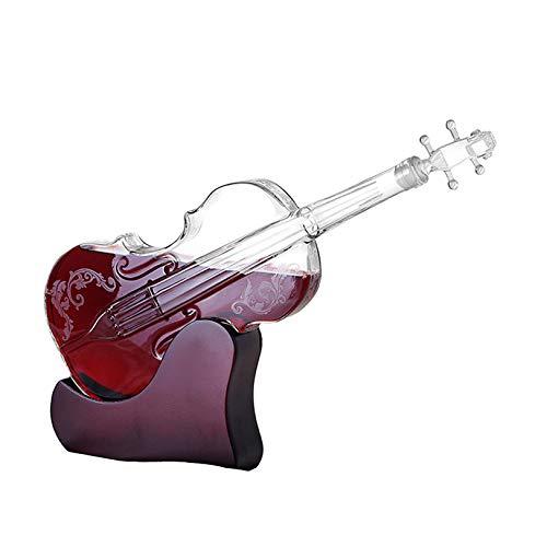 Rabbfay Decantador de whisky para violín, botella grabada para violín, pinza antigua, tapón para embudo, dispensador de licores para licor, whisky, vodka, ron, vino, tequila, 1000 ml, plata