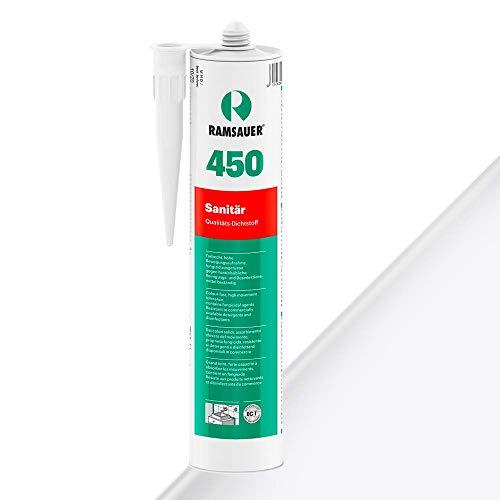 Ramsauer 450 Sanitär 1K Silikon Dichtstoff 310ml Kartusche (Weiß)