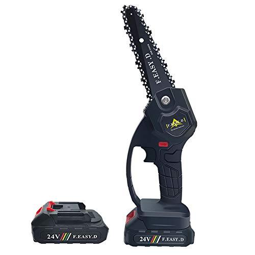 Festnight Mini cepillo portátil de dos baterías de 24 V, motosierra eléctrica,...