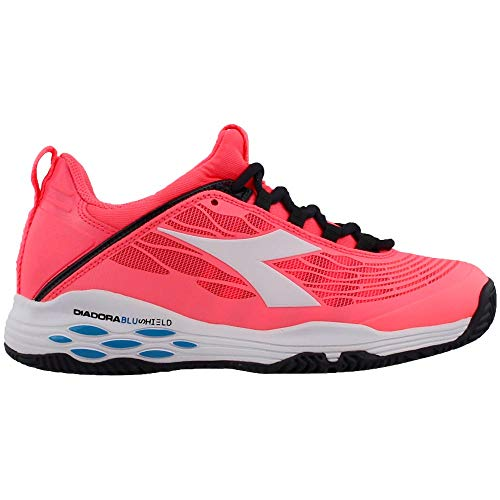 Diadora Womens Speed Blushield Fly Clay Tennis Sneakers Shoes Casual - Pink - Size 5.5 B