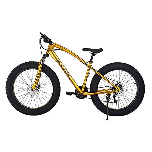 AXAN Fat Bicycle with Dual Disc Breaks 21 Shimano Gears 26X4 Inch...