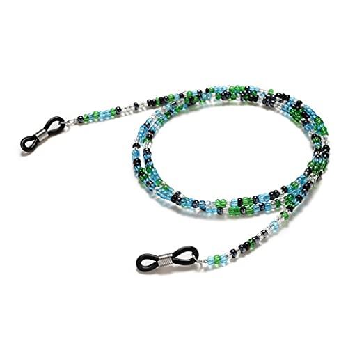 YFQHDD Bohemia Cuentas Transparentes de Lectura Gafas de Lectura Cadena de cordón Sujetal Solts Sunglasses Cadena Cordones de Moda Mujeres Gafas Accesorios (Color : A, Size : Length-70CM)