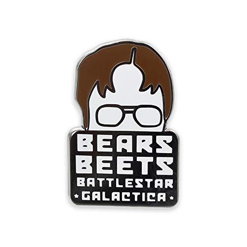 WIZARDPINS Bears Beets Battlestar Galactica Dwight Schrute Hard Enamel Lapel Pin– 1 Pin