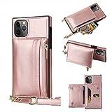 Funda con Cuerda Compatible La Caja del teléfono móvil de la Bolsa de Cremallera es Adecuada para iPhone 3 Paquetes de Tarjetas 1 Bolso,Rose Gold,iPhone6