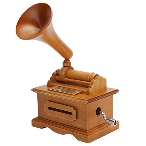 Gaeirt Carillon con Grammofono, Carillon Vintage Inciso a Manovella, Carillon a Manovella in Legno,...