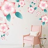 Flor romántica sala de bodas dormitorio decoración de la pared de la cabecera pegatinas de pared cálida sala de estar sofá TV pegatinas de fondo 60X90cm