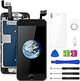 BuTure Para Pantalla iPhone 6S, 4.7' Negro Pantalla Táctil LCD con Cámara frontal,Sensor de proximidad,altavoz, ensamblaje de marco digitalizador y kit de reparación