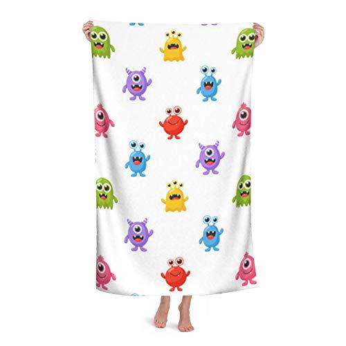 Manta de playa de microfibra para niñas y mujeres, divertido monstruo de dibujos animados sin arena, absorción de agua, toalla de baño para viajes y vacaciones