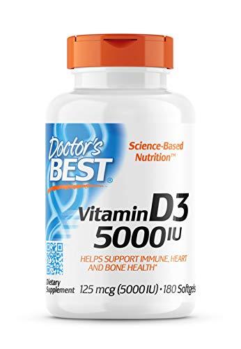 Doctor's Best, Vitamin D3 Depot, 5.000 I.E, 180 Weichkapseln, sojafrei, glutenfrei