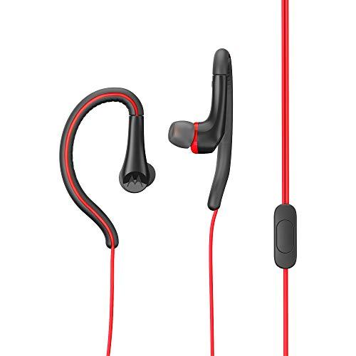 MotorolaEarbuds,SportWater Resistant In-Ear Headphones - Red (SH008 RD)