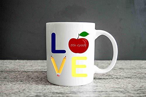 Love My Grade Teacher Mug Taza personalizada para maestros Taza de regalo para maestros Taza de café linda Taza con dicho regalo Regalo de regreso a la escuela 11oz