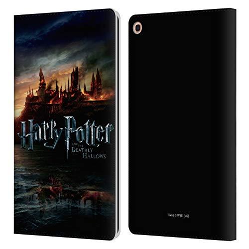 Head Case Designs Offizielle Harry Potter Burg Deathly Hallows VIII Leder Brieftaschen Handyhulle Hulle Huelle kompatibel mit Samsung Galaxy Tab A 101 2019