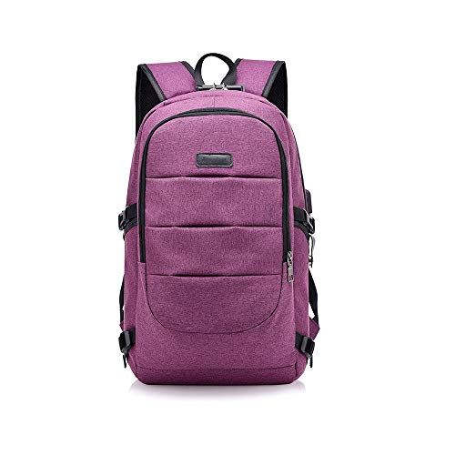 YANGYUAN Laptop Backpack Travel,USB Charging Port,Travel Bookbag, Women Men College School Backpack Student Daypack Fits Laptop (Color : Purple)