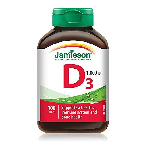 Jamieson 18141 Vitamina D3 1000 Ui, no Colore, 30 Grammi, 100 Unità