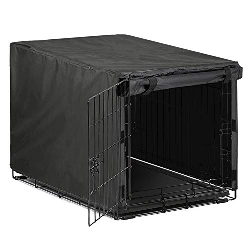 Avanigo Black Dog Crate Cover for 24 36 42 48 Inches Metal Crates Wire Dog Cage,Pet Indoor/Outdoor...