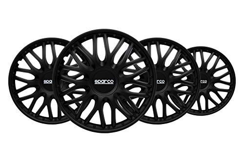 SPARCO SPC1696BK Radzierblenden Roma, Schwarz, 4 Stück
