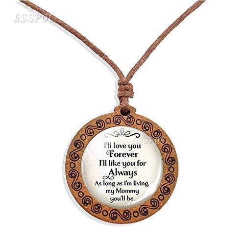 N\C Joyería de la Madre Colgante de la Madre Collar de Cuerda de Cera Tejida Doble Día de la Madre