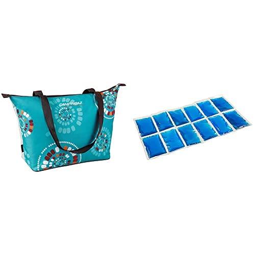 Campingaz 2000033080, Nevera Flexible, Multicolor, 15 L + Flexi Freez Acumulador Frio, Pack Mediano, Unisex, Azul, Medium