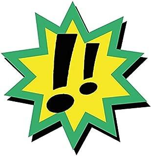 Comic Book Speech Bubble Exclamation Mark Sticker Decal Design - Sticker Graphic - Auto Wall Laptop Cell Truck Sticker - Easy Stick Sticker Graphic