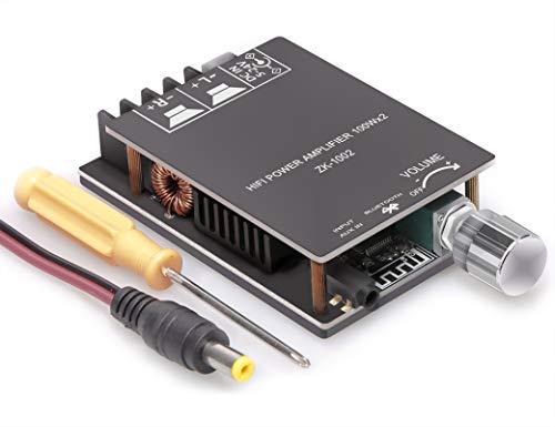 OWAYKEY Scheda Amplificatore Bluetooth, 100 W+100 W Audio Amp Board con tecnologia di filtro LC, doppio chip TPA3116 DC8-24 V, Bluetooth e ingresso AUX
