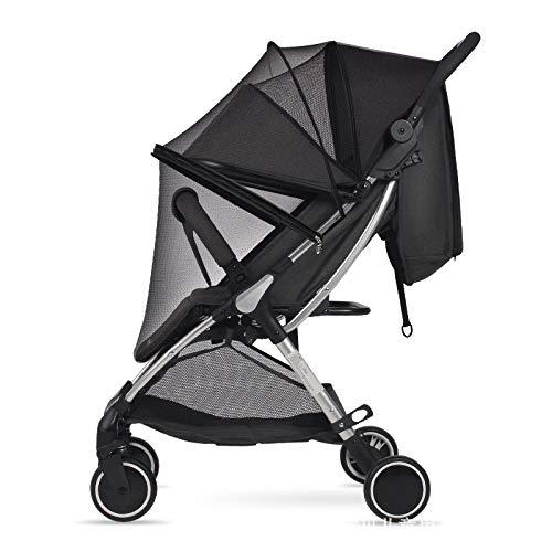 BAYINBROOK Parasol para cochecito, Sombrilla para cochecito, Toldo carrito bebe anti-UV, Universal y fácil de instalar (Mosquito Net)