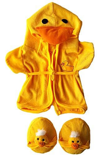 Duck Robe & Slippers Pajamas Outfit Teddy Bear Clothes Fit 14